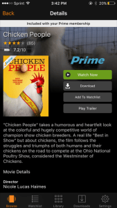 Amazon Prime - Chicken People Documentary