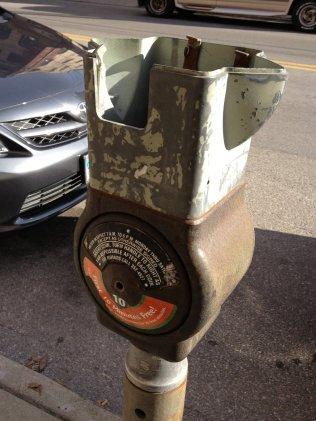 Vandalized Parking Meter in OTR