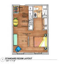 Anna Louise Inn Room Layout