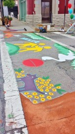 Sidewalk Painting at Cincy Summer Streets in Walnut Hills [Jocelyn Gibson]