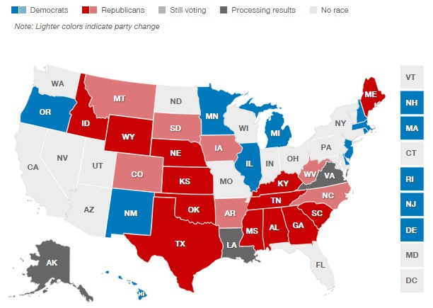 2014 Election Senate Results [CNN]