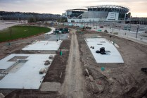 Construction at Smale Riverfront Park