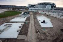Construction at Smale Riverfront Park