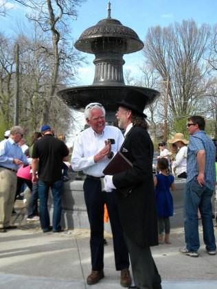 David Mann at Probasco Fountain [Kevin LeMaster]