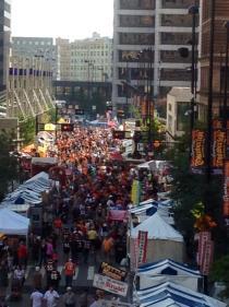 Oktoberfest on Fifth Street in 2014 [Oktoberfest Zinzinnati]
