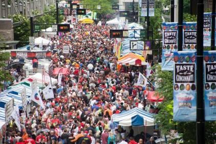 Taste of Cincinnati on Fifth Street in 2014 [Taste of Cincinnati]