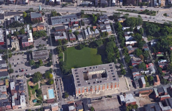 Aerial of the Alumni Lofts site [Google Earth]