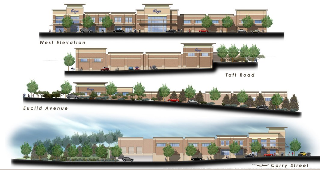 Corryville Kroger Elevations from CR Architects in 2008 [Niehoff Studio]