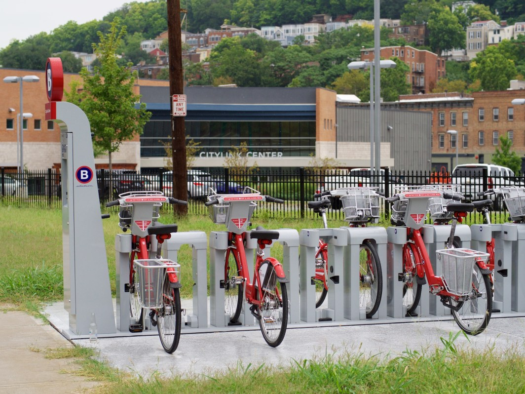 Newly Opened CityLink Red Bike Station [Travis Estell]