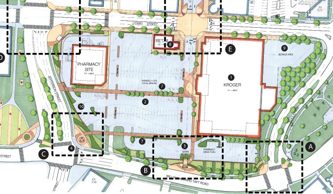 University Plaza Site Plan from CR Architects in 2008 [Niehoff Studio]