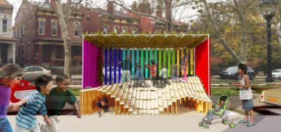 Mountain/Tunnel/Xylophone Parklet at Stoney's Village Toy Shoppe [Provided]