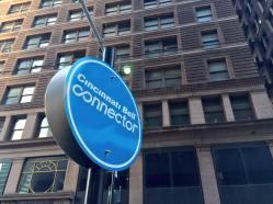 Cincinnati Bell Connector Station Sign
