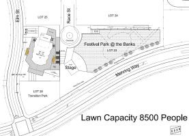 A site schematic of the proposed music venue.