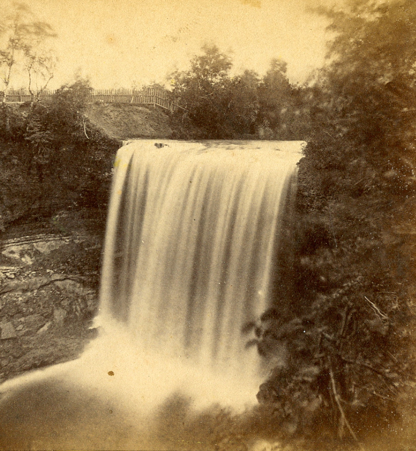 Taken by Benjamin Franklin Upton, this image of the Falls was probably taken in the late 1850s.