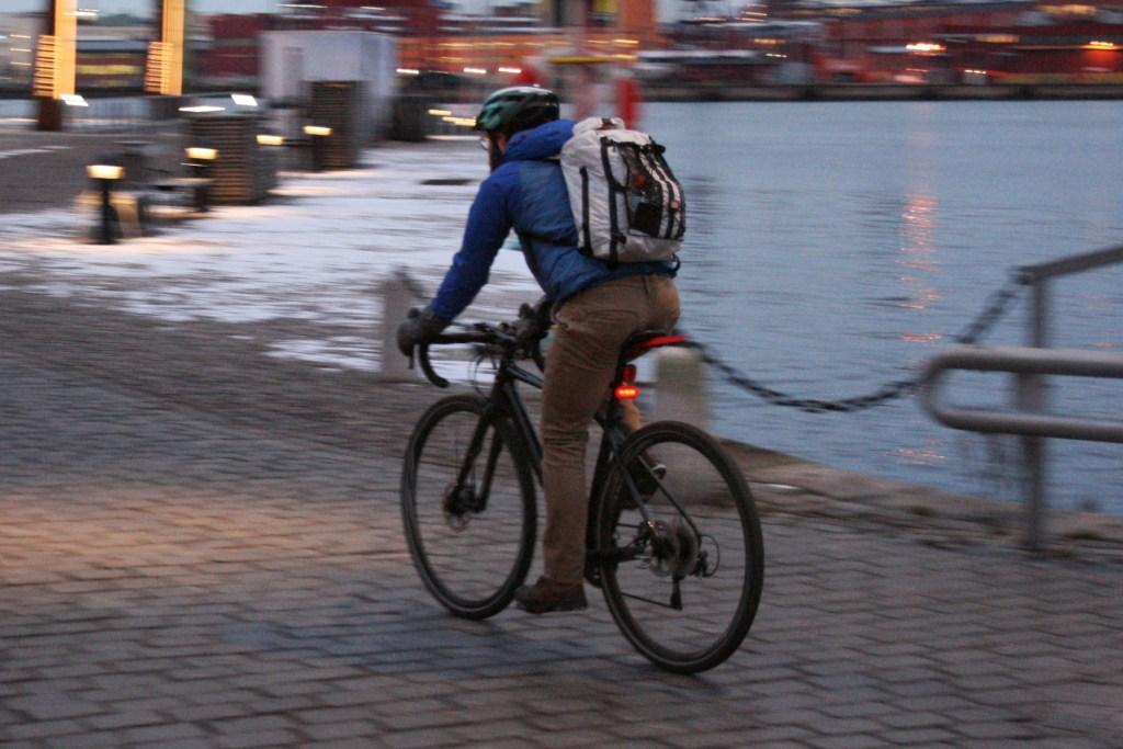 Cykling och hälsa vid stenpiren