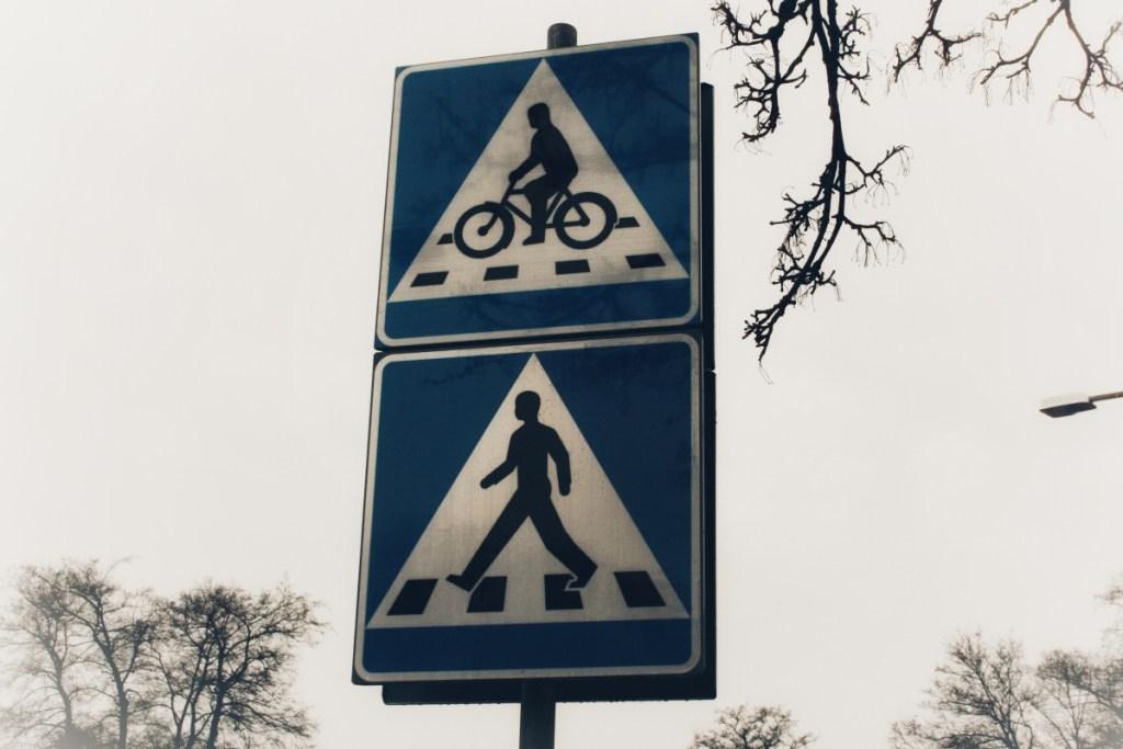 Cykelöverfart skylt