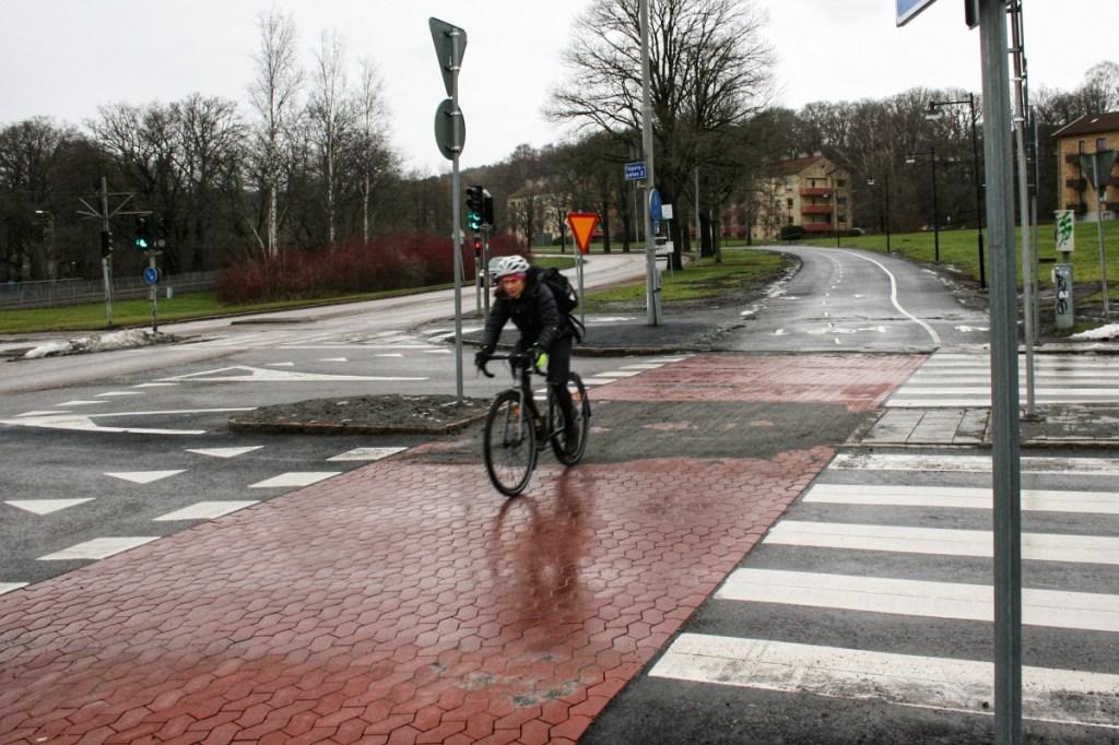 Cykelöverfart Delsjövägen