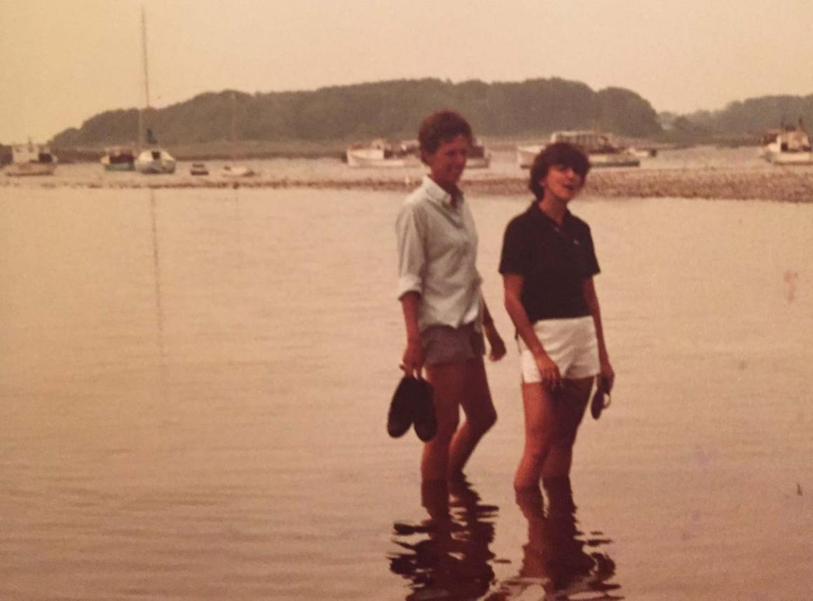Anne Barnes and Luisa Sheer in Maine
