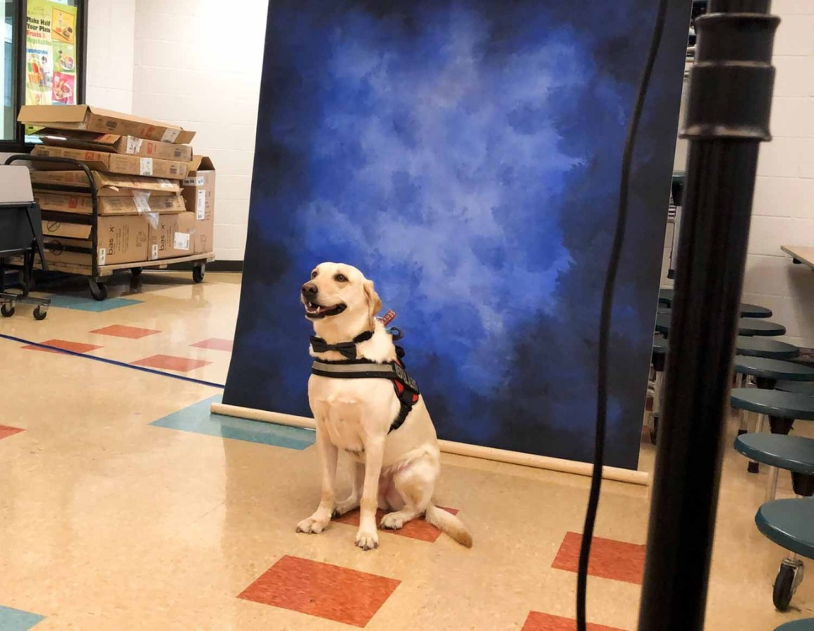 Therapy Dog Featured in Stoneman Douglas Yearbook