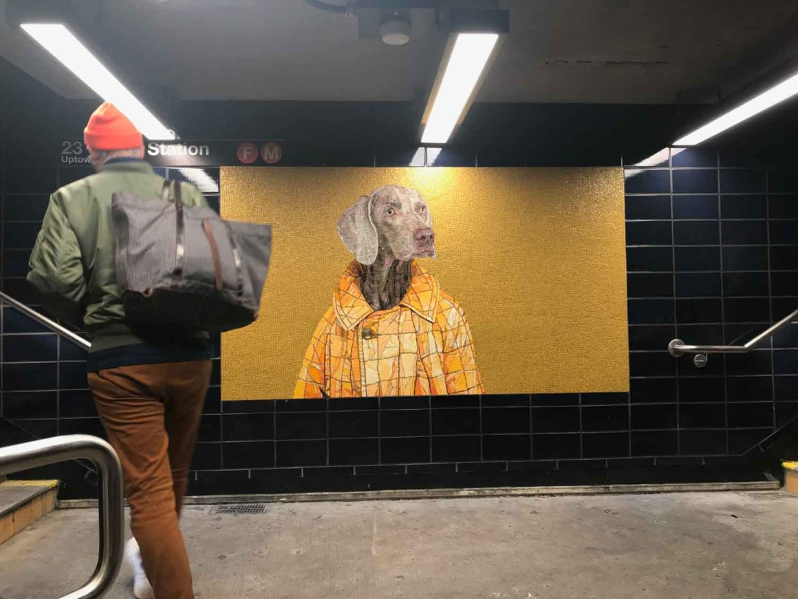 William Wegman Weimaraner Mosaics New York City Subway 23 Street