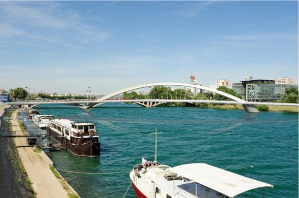 Le Pont Raymond Barre - Lyon Confluence
