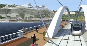 Le futur Pont Raymond Barre - Lyon - Pour relier La Confluence et Gerland
