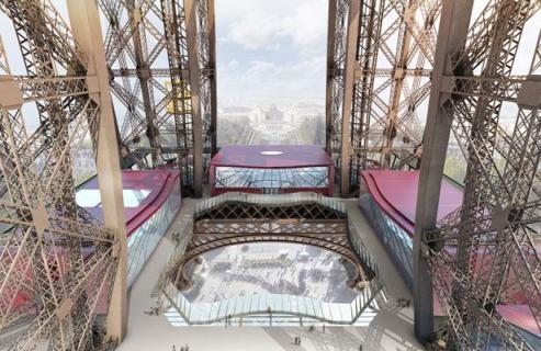 Un lifting pour le premier étage de la Tour Eiffel - Moatti-Rivière,