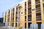 A Vertou, près de Nantes, 62 logements sociaux dans un immeuble de 4 étages sont en construction.
