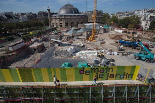 Le chantier des Halles, le 7 septembre 2012 à Paris.