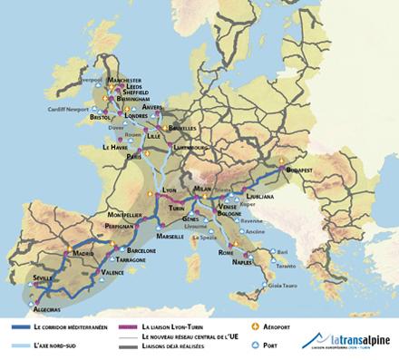 Le corridor ferroviaire méditerranéen.