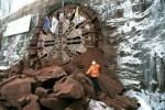 Fin du percement du tunnel de Saverne, de 4 km de long, lundi 25 février