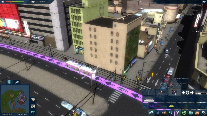Un trolleybus dans Cities in Motion 2