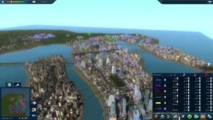 Vue générale d'une carte de ville dans Cities in Motion 2