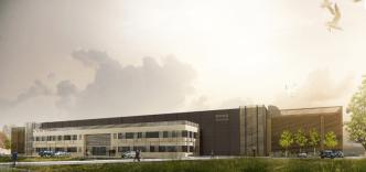 Vue du futur Data Center de Val d'Europe (Crédits Image RB Architectes)