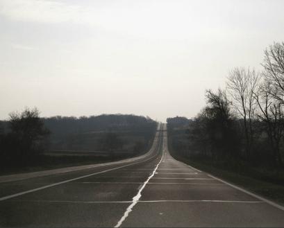 Portion de la D906 près de la Croisée (Crédits Jeremy Saint-Peyre)