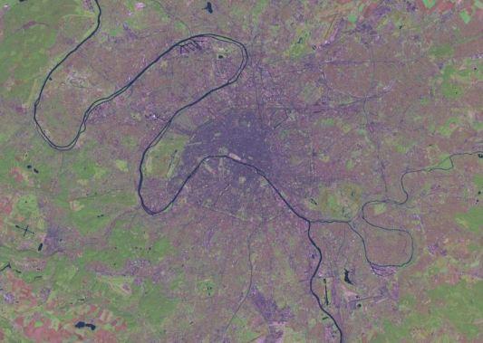 Image satellite de Paris et sa région