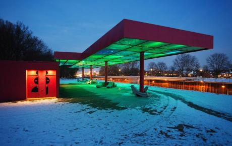 Le LED Cloud, au Nord d'Amsterdam. Crédit photo: The Pop Up City