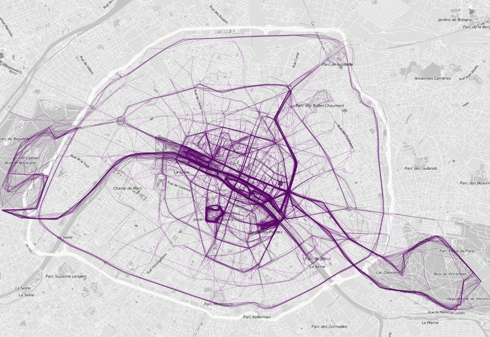 Paris (crédits image : flowingdata.com)