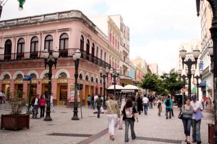 Rua XV de Novembro - Curitiba - Brésil