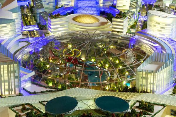 Le parc d'attraction (crédits image : Dubaï Holding)