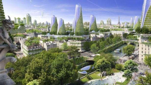 Photosynyhesis Towers - Montparnasse - Paris Smart City 2050 - © Vincent Callebaut