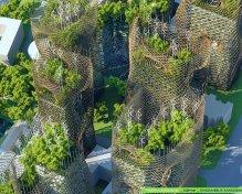 Bamboo Nest Towers - Boulevard Masséna - Paris Smart City 2050 - © Vincent Callebaut