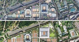 Plan Guide avant/après du projet d'extension de Rolland Garros / © FFT 2013