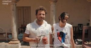 Deux architectes à l'initiative du projet 'Domesticity' créé pour les '180 Creative Camp' d'Albrantes au Portugal