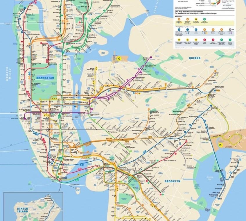 Le Plan du Métro New-Yorkais
