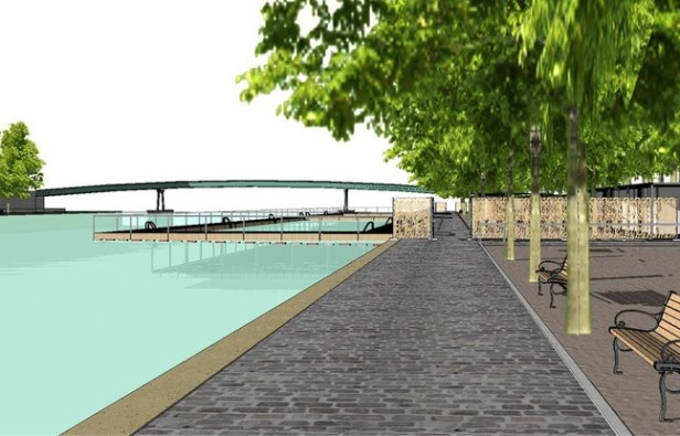 La zone de baignade de la Villette - Cabinet d'architecte Patrick Charoin - Marina Donda