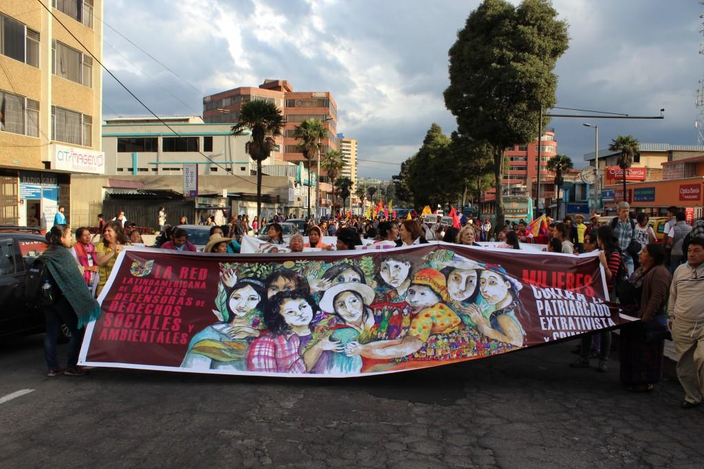 Partie du cortège de la marche du 17.10.2016 à Quito