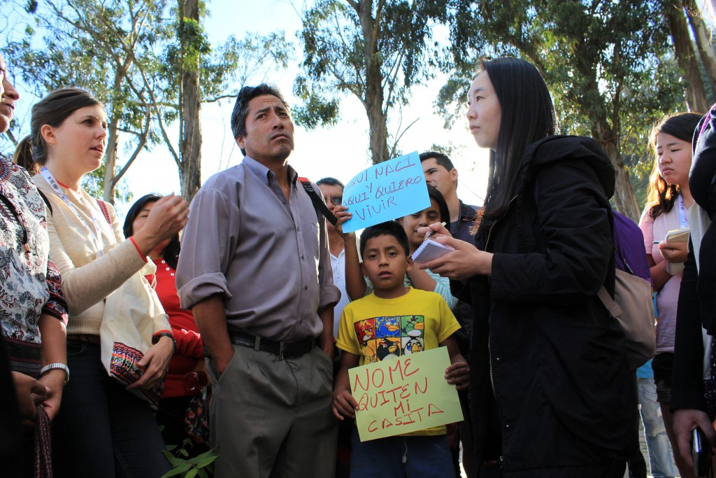 """La visite organisée dans le cadre de """"Resistencia HIII"""" a permis de diffuser la lutte de Bolaños à des militants d'autres pays"""