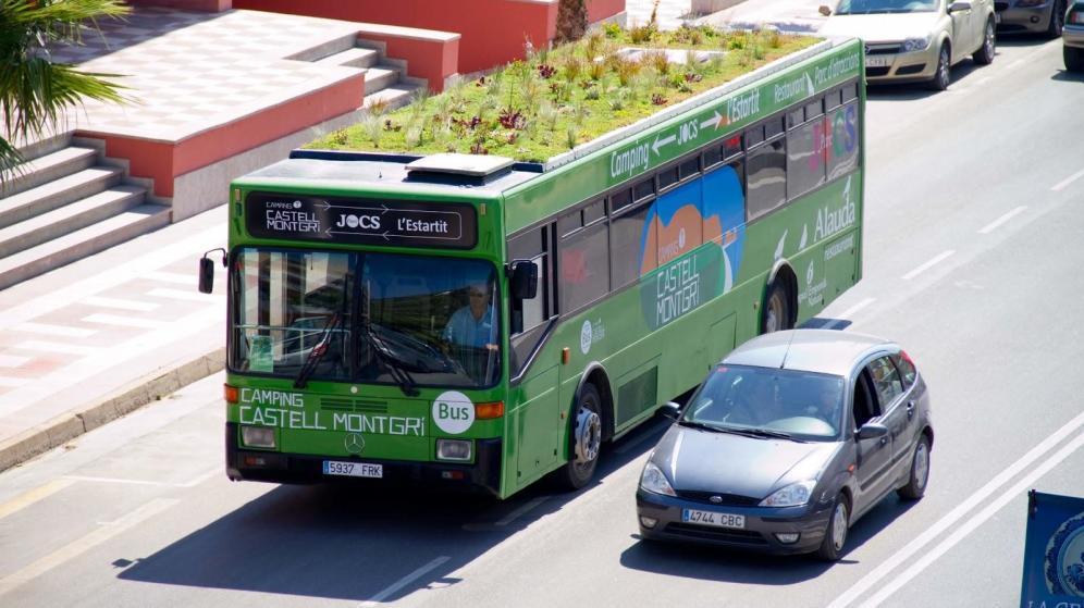 Des bus végétalisés à Madrid - Crédit Mark Granen Phytokinetic