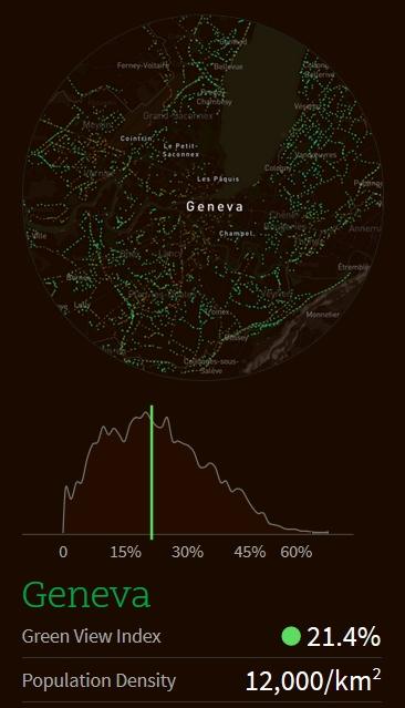 Treepedia Genève Green View Index / © Senseable Trees - MIT